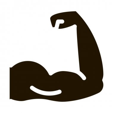 Arm Muscles glyph icon vector.  Arm Muscles Sign. isolated symbol illustration icon