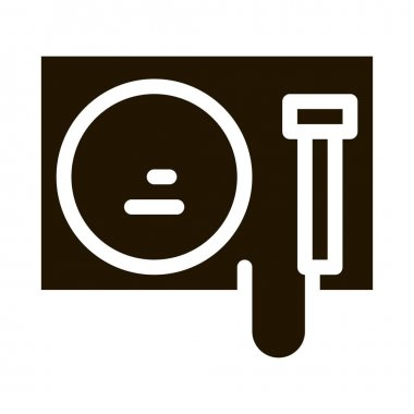 Gong glyph icon vector.  Gong Sign. isolated symbol illustration icon
