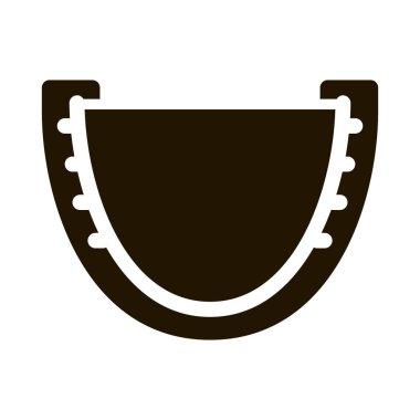 Capa Boxer glyph icon vector.  Capa Boxer Sign. isolated symbol illustration icon