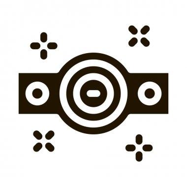 Championship Belt glyph icon vector.  Championship Belt Sign. isolated symbol illustration icon
