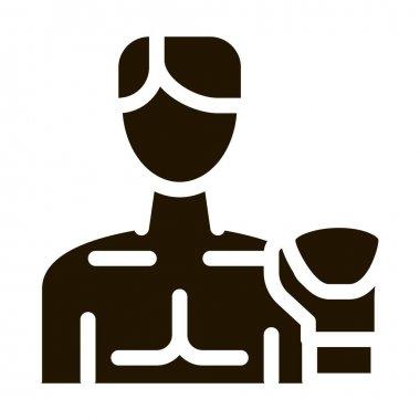 Boxer Man glyph icon vector.  Boxer Man Sign. isolated symbol illustration icon