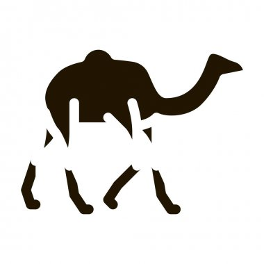 Camel glyph icon vector.  Camel Sign. isolated symbol illustration icon