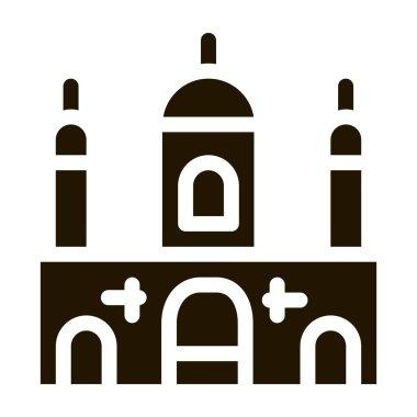 Islamic Building glyph icon vector.  Islamic Building Sign. isolated symbol illustration icon