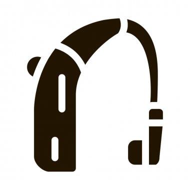 Deaf Aid glyph icon vector. Deaf Aid Sign. isolated symbol illustration icon