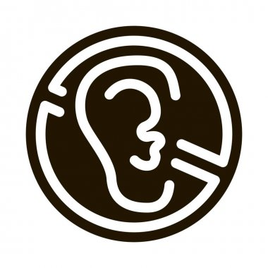 No Hearing glyph icon vector. No Hearing Sign. isolated symbol illustration icon
