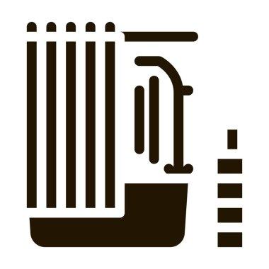 Bathroom glyph icon vector. Bathroom Sign. isolated symbol illustration icon