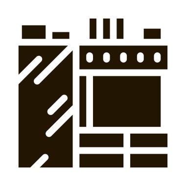 Kitchen glyph icon vector. Kitchen Sign. isolated symbol illustration icon