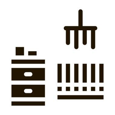 Children Room glyph icon vector. Children Room Sign. isolated symbol illustration icon