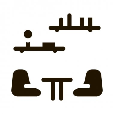 Lounge with Chairs glyph icon vector. Lounge with Chairs Sign. isolated symbol illustration icon