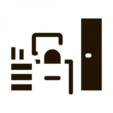 Workplace Rooms glyph icon vector. Workplace Rooms Sign. isolated symbol illustration icon