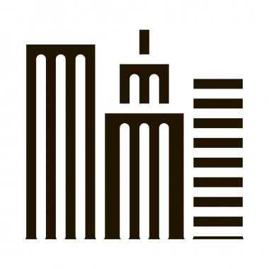 High-Rise Buildings View glyph icon vector. High-Rise Buildings View Sign. isolated symbol illustration icon