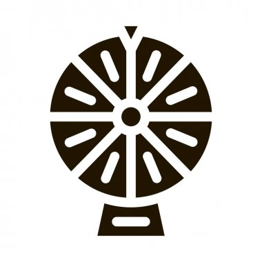 Wheel of Fortune glyph icon vector. Wheel of Fortune Sign. isolated symbol illustration icon