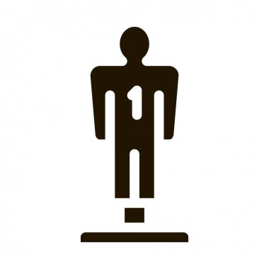 Player Figurine glyph icon vector. Player Figurine Sign. isolated symbol illustration icon