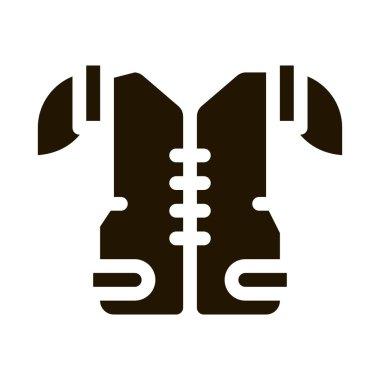 Protective Corset Vest glyph icon vector. Protective Corset Vest Sign. isolated symbol illustration icon