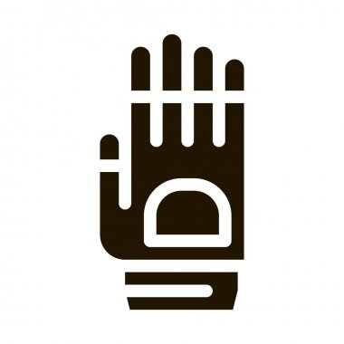 Protective Glove glyph icon vector. Protective Glove Sign. isolated symbol illustration icon