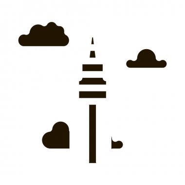 Korean Tower glyph icon vector. Korean Tower Sign. isolated symbol illustration icon