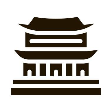 Korean Building glyph icon vector. Korean Building Sign. isolated symbol illustration icon