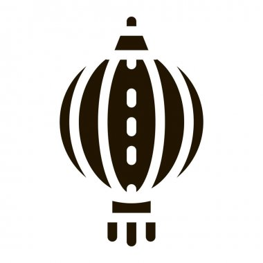 Asian Lantern glyph icon vector. Asian Lantern Sign. isolated symbol illustration icon
