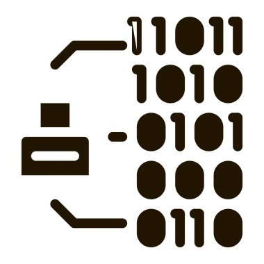 Binary Code glyph icon vector. Binary Code Sign. isolated symbol illustration icon