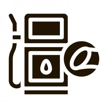 Cane Fuel Station glyph icon vector. Cane Fuel Station Sign. isolated symbol illustration icon