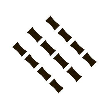 Sugar Cane Sticks glyph icon vector. Sugar Cane Sticks Sign. isolated symbol illustration icon