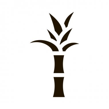 Sugar Cane Plant glyph icon vector. Sugar Cane Plant Sign. isolated symbol illustration icon