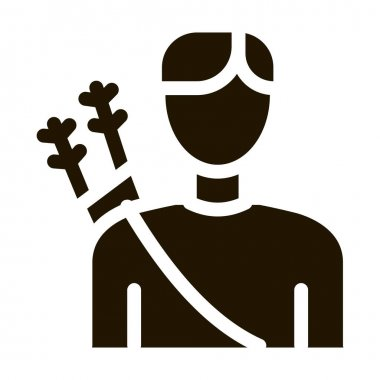 Archer Sport Man Silhouette Icon Vector. Boy Archer Gamer With Arrows Behind Back Pictogram. Athletic Guy Monochrome Sign isolated symbol illustration icon