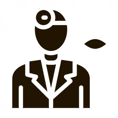 Oculist Doctor Silhouette Icon Vector. Oculist Ophthalmologist Optical Clinic Staff Pictogram. Monochrome Sign isolated symbol illustration icon
