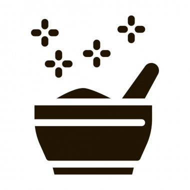 Thailand Traditional Meal Icon Vector. Bowl With National Spice Meal, Soup Dish, Street Food Pictogram. Monochrome Sign isolated symbol illustration icon