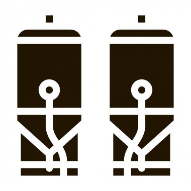 Brewing Barrels glyph icon vector. Brewing Barrels Sign. isolated symbol illustration icon