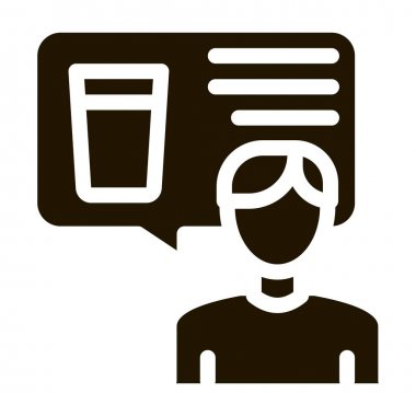Man Talk Beer glyph icon vector. Man Talk Beer Sign. isolated symbol illustration icon