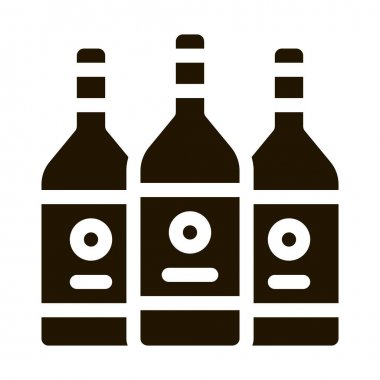 Drink Bottles glyph icon vector. Drink Bottles Sign. isolated symbol illustration icon
