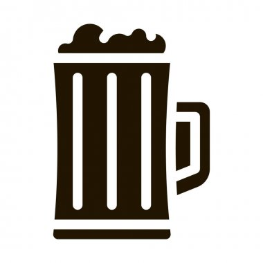 Foamy Beer Cup glyph icon vector. Foamy Beer Cup Sign. isolated symbol illustration icon