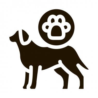 Dog Footprint glyph icon vector. Dog Footprint Sign. isolated symbol illustration icon