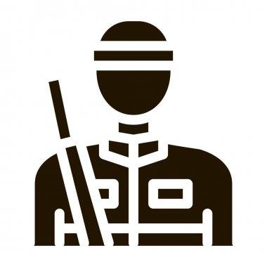 Hunter Silhouette glyph icon vector. Hunter Silhouette Sign. isolated symbol illustration icon