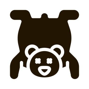 Bear Skin glyph icon vector. Bear Skin Sign. isolated symbol illustration icon