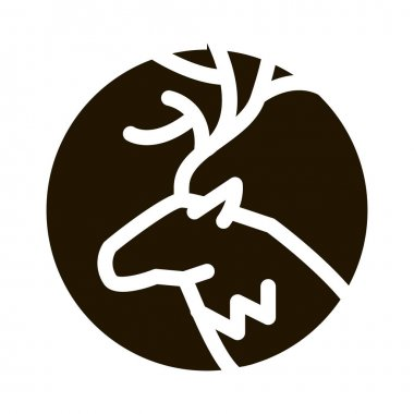 Deer Silhouette glyph icon vector. Deer Silhouette Sign. isolated symbol illustration icon