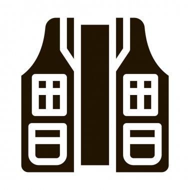 Hunter Vest glyph icon vector. Hunter Vest Sign. isolated symbol illustration icon