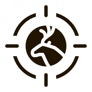 Deer Targeting glyph icon vector. Deer Targeting Sign. isolated symbol illustration icon