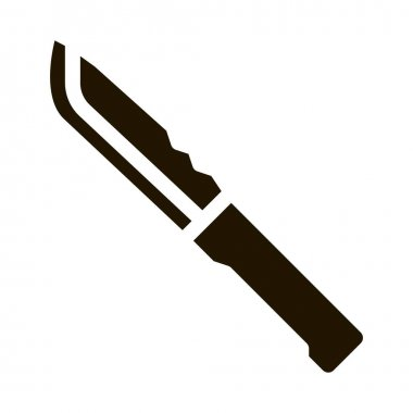 Hunting Knife glyph icon vector. Hunting Knife Sign. isolated symbol illustration icon