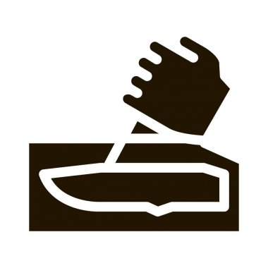 Hand Made Knife glyph icon vector. Hand Made Knife Sign. isolated symbol illustration icon