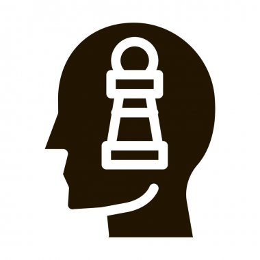 Chess Figure Head glyph icon vector. Chess Figure Head Sign. isolated symbol illustration icon
