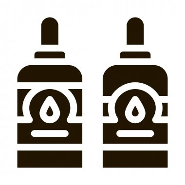 Bottles With Ink glyph icon vector. Bottles With Ink Sign. isolated symbol illustration icon
