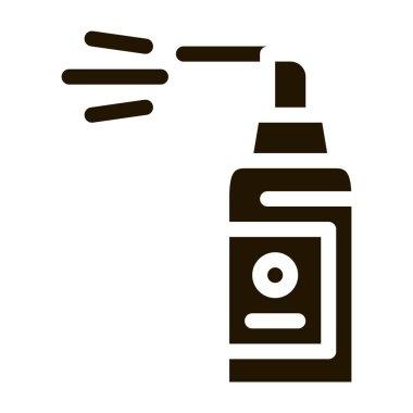Spray Bottle glyph icon vector. Spray Bottle Sign. isolated symbol illustration icon