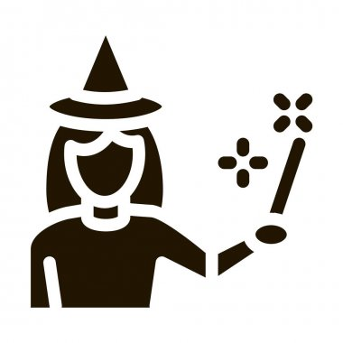 Wizard Woman glyph icon vector. Wizard Woman Sign. isolated symbol illustration icon