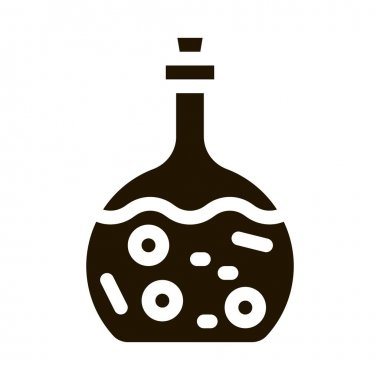 Poison Flask glyph icon vector. Poison Flask Sign. isolated symbol illustration icon