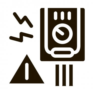 Short Circuit glyph icon vector. Short Circuit Sign. isolated symbol illustration icon