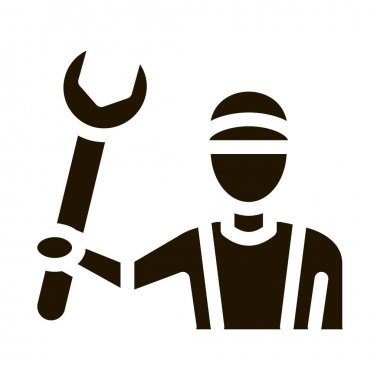 Plumber Wrench glyph icon vector. Plumber Wrench Sign. isolated symbol illustration icon