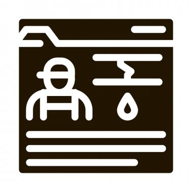 Plumber Web Site glyph icon vector. Plumber Web Site Sign. isolated symbol illustration icon
