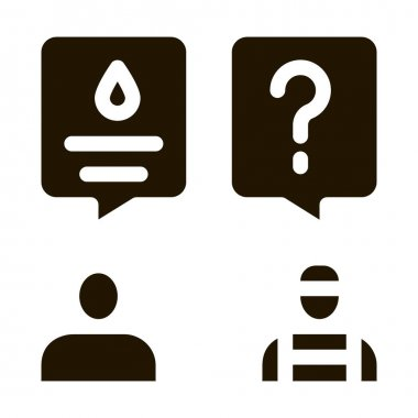 Plumber Discuss glyph icon vector. Plumber Discuss Sign. isolated symbol illustration icon